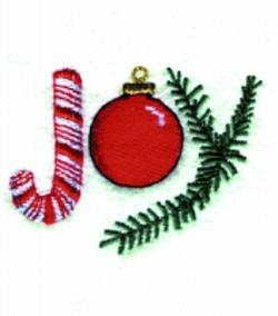 JOY applique embroidery design