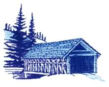 Covered Bridge embroidery design
