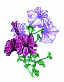 Petunia Bouquet embroidery design