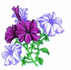 Petunia   embroidery design