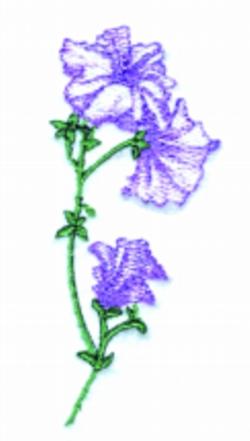 Petunia Runner embroidery design
