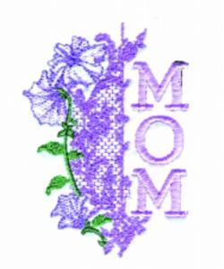 MOM embroidery design