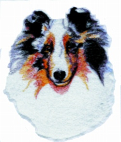 Blue Merle Sheltie embroidery design