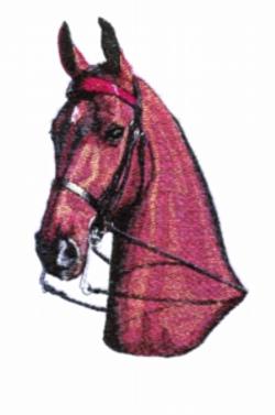 Head Shot embroidery design