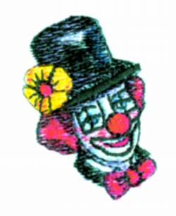 Clown Vinette embroidery design