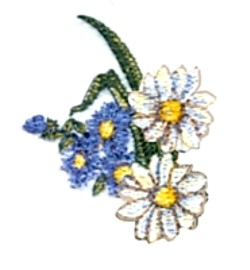 Asters Daisys embroidery design