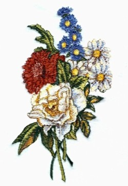 Fall Bouquet embroidery design