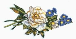 Rose & Aster Runner embroidery design