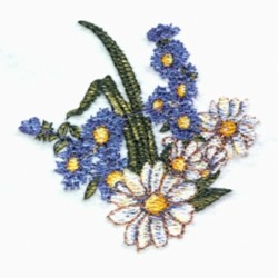 Asters & Daisys embroidery design