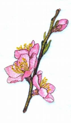 Peach Bloss Bouquet embroidery design