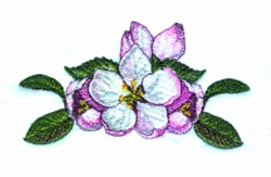 Apple Blossom Corner embroidery design
