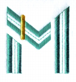 Letter M embroidery design