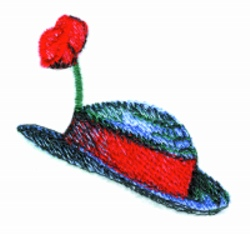 Clown Hat embroidery design