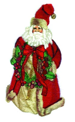 Old Saint Nick embroidery design