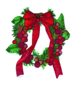 Wreath embroidery design