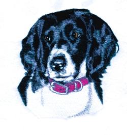 Munsterlander embroidery design