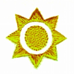 Shining Sun embroidery design