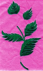 Thistle Leaves embroidery design