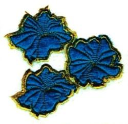 Three Holyhocks embroidery design