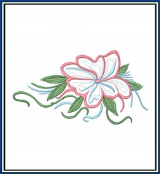 Island Flower Applique embroidery design