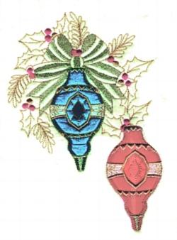 Ornaments applique embroidery design
