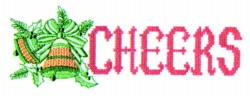 Cheers Cross Stitch embroidery design