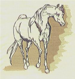 Arabian Pen & Ink embroidery design