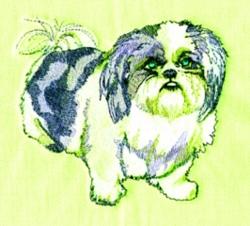 Shih Tzu embroidery design
