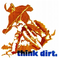 Think Dirt embroidery design