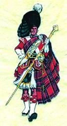 Scottish Drum Major embroidery design