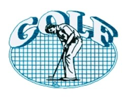 Golf Oval Quilt embroidery design