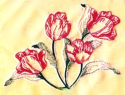 Parrot Tulip embroidery design