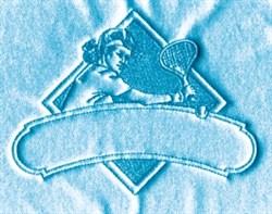Ladies Tennis Label embroidery design