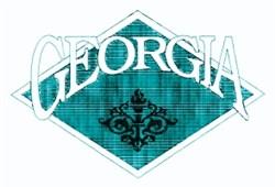 Georgia Crest embroidery design