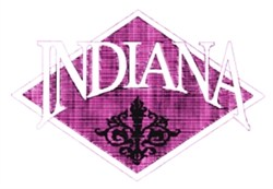 Indiana Crest embroidery design