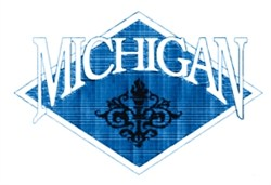 Michigan Crest embroidery design