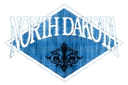 North Dakota Crest embroidery design