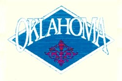 Oklahoma Crest embroidery design