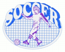 Soccer Quilt embroidery design