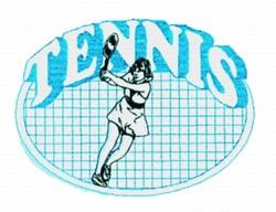 Ladies Tennis Quilt embroidery design