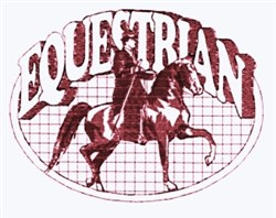 Equestrian Oval embroidery design