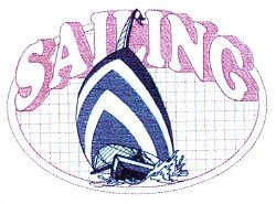 Sailing Oval embroidery design