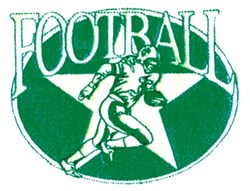 Football Star embroidery design