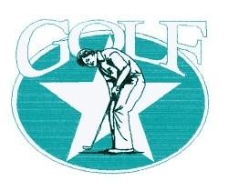 Golf Star embroidery design