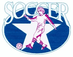 Soccer Oval Star embroidery design