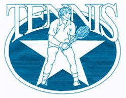 Mens Tennis Oval embroidery design