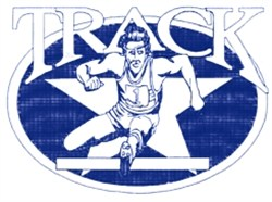 Track Star embroidery design