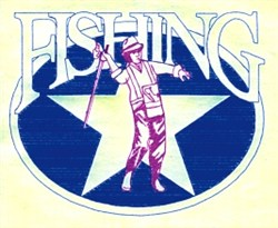 Fishing Star Oval embroidery design