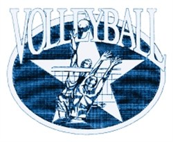 Volleyball Star embroidery design