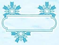Snowflake Label embroidery design